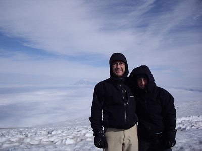 Summit photo.  The wind was around 30mph, and it was very cold, so we didn't spend much time up top.