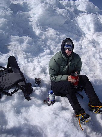 Hot tea on the summit.