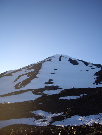 Piker's Peak (false summit) from Lunch Counter.  It doesn't look like it's that far up, but it's deceptive.