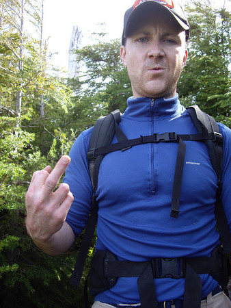 This is what I felt about the bushwhacking.