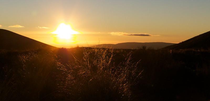Sun sets on Tongariro