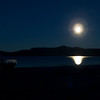 Moonrise over Whanganui Bay, Sunday May 6 2012