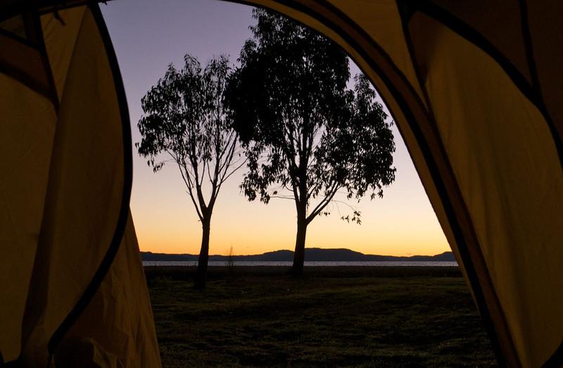 Another climbing day dawns at Whanganui Bay