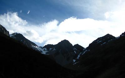 Mt Travers north east ridge, Spring 2008