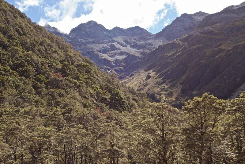Gloriana Peak from the St James walkway
