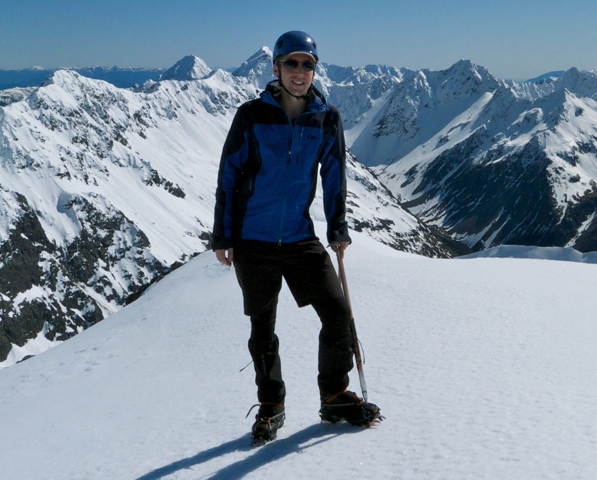 Andre pleased to reach his first Nelson Lakes summit - if only he knew what lay ahead..
