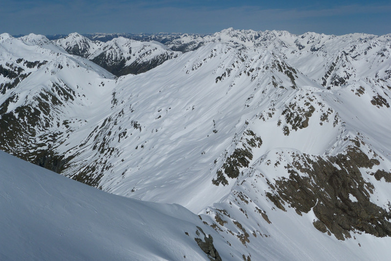 From the summit of Paske in fair weather, the southwest ridge looks worth a go