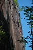 David Lucander from the Gunks and partner on Chicken Delight at the Barber Wall.