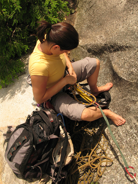 Tricia at Lunch Ledge.