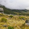 April 22 2014: Starting late after rain, we pass a Rock of Navigational Significance to start climbing Mt Mackenzie