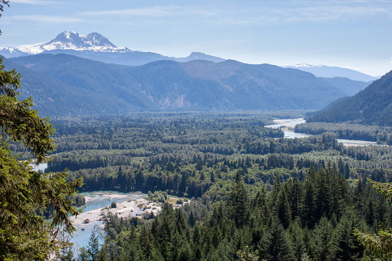 View down the Squamish River from the Sigurd Creek Trail