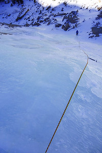 Black lake cirque- Black lake slabs 1st pitch