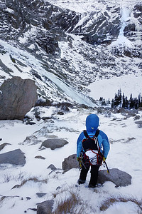 Black lake cirque- Descent-Kejal Kantarci - Black lake slabs & West Gully