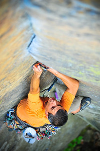 Cruising Lane, 5.10a (trad) @ Funk Rock City Climber: Guillaume Bitton
