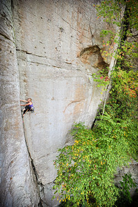 Jim's Dihedral 5.10a at Indian Creek Crag Climber: Sara Violett