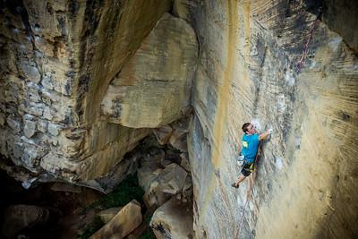 No Redemption 5.13b @ Bob Marley Crag Climber: Dru Mack