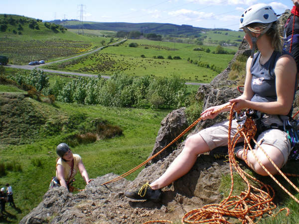 Jen and Silke at Neilston Quarry