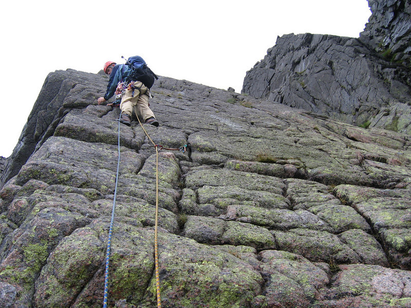 Graham on Crystal Ridge, Cairngorms.