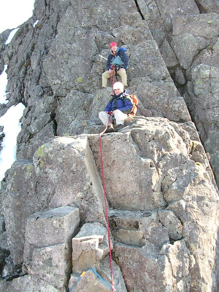 Graham & Fraser on the far side of Tower Gap, Ben Nevis.
