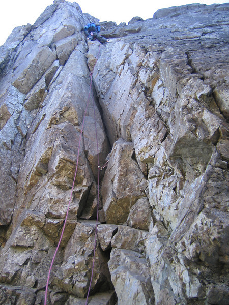 Neil leading the TD Gap, Skye Ridge