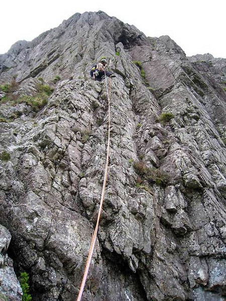 North Face Route on the Buachaille, Glen Coe