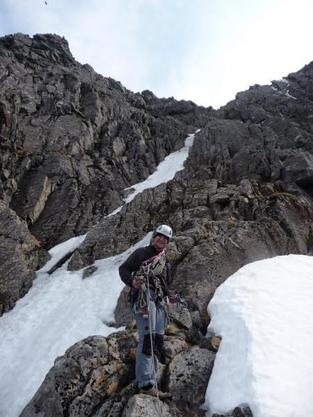 Graham near the top of Observatory Ridge, Ben Nevis