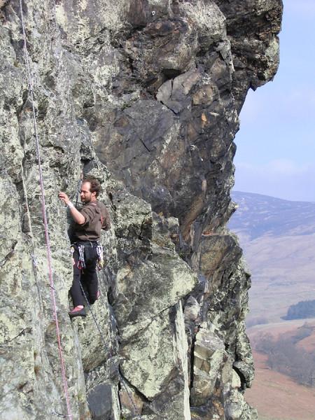 Gavin climbing in Glen Leddnock