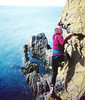 John Burton at Meikle Ross sea cliffs