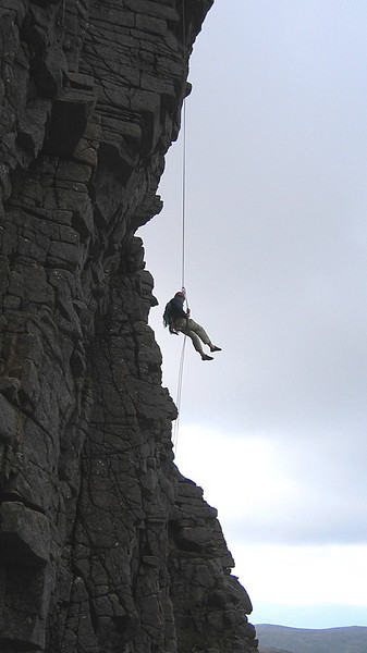 Abseil from Savage Slit, Cairngorms