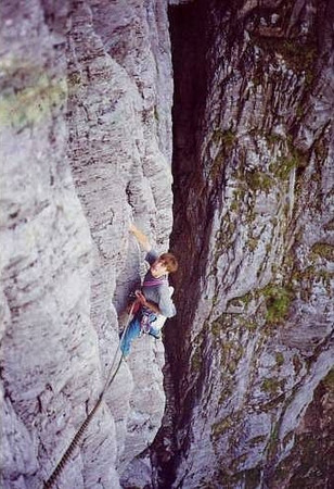 First pitch of Sibboleth on the Slime Wall of the Buachaille.