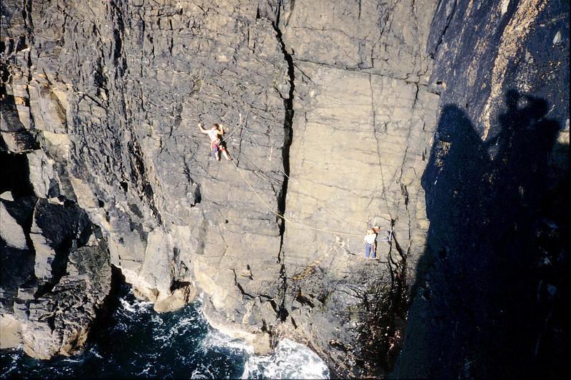 Right Angle at Gurnards Head, Cornwall. Alex and Brian.