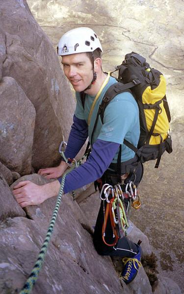 Scott on the Applecross classic, Cioch Nose.