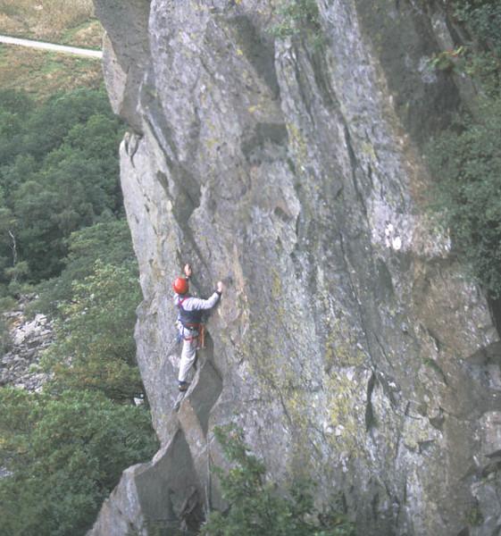 Alex on Lake District Classic Rock action. Little Chamonix.