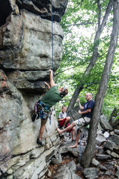 Gunks 8/15 Belly Roll Area