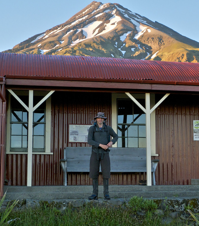 Michael ready to start outside The Camphouse, 6.15am December 21 2011