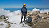Michael on the top of Mt Taranaki (2518m) for the first  time, December 21 2011.