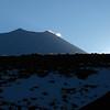 Mt Ngauruhoe silhouette.
