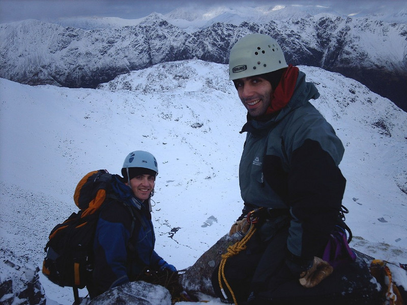 Neil and Ickers on Boomerang Gully, Glen Coe.