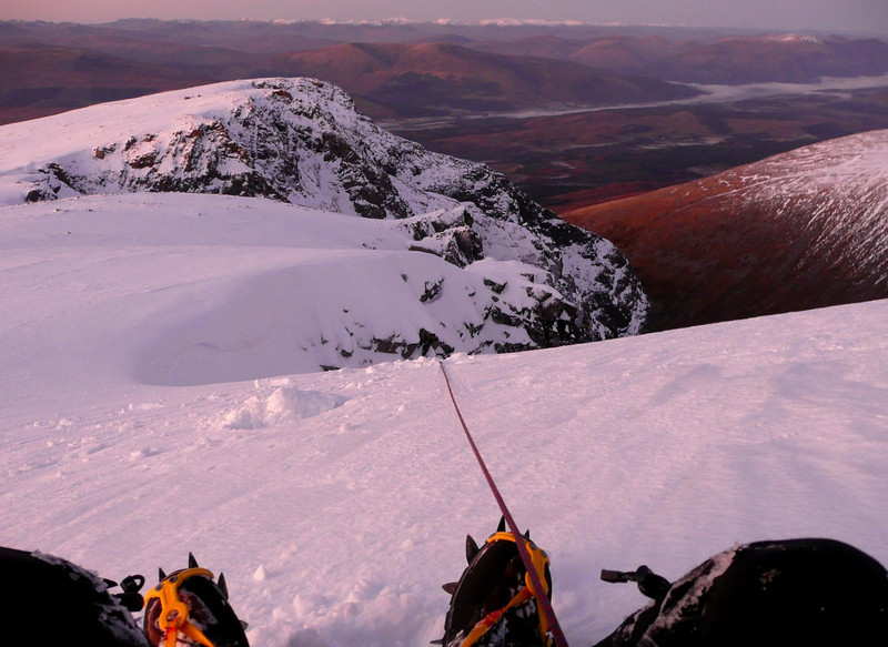 Belay on the Ben Nevis plateau