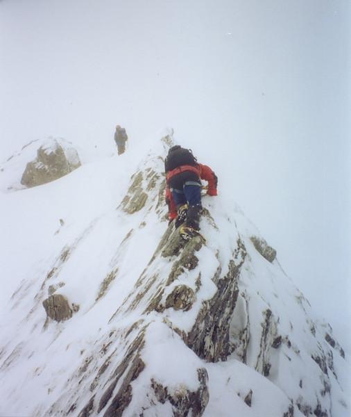 Scott on the Forcan Ridge of The Saddle.