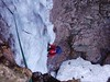 Great Gully on the Buachaille when not banked out can give much steep ice. Here's David experiencing it first hand.
