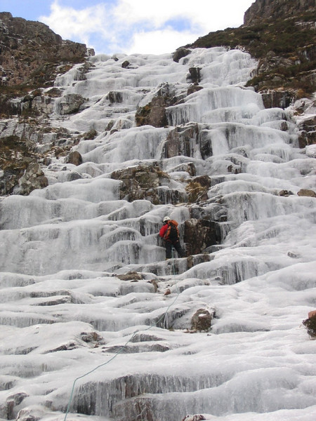 Icefall on Creise