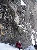 Graham climbing Comb Gully, Ben Nevis