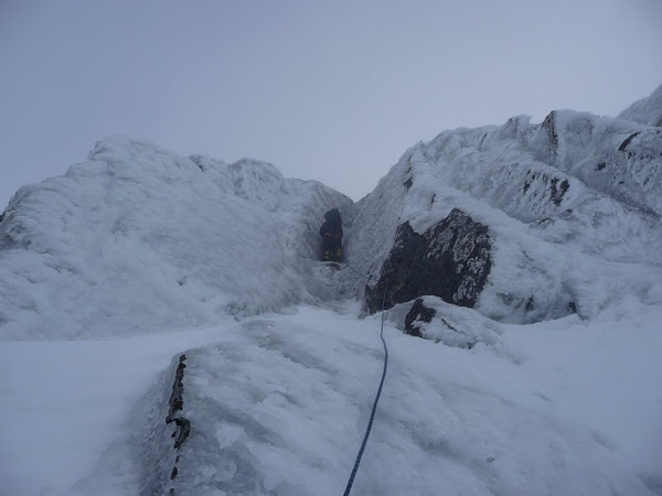 The 40ft Corner on Norheast Buttress, Ben Nevis