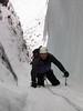 Steve Wells climbing on Beinn Dearg.