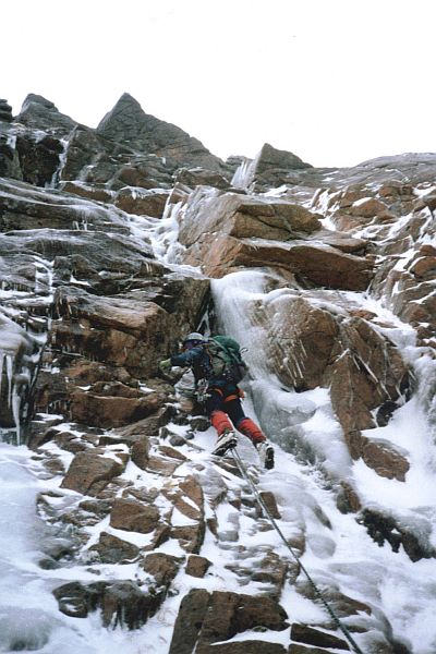 David on Doctor's Choice, Coire an t-Sneachda in the Cairngorms