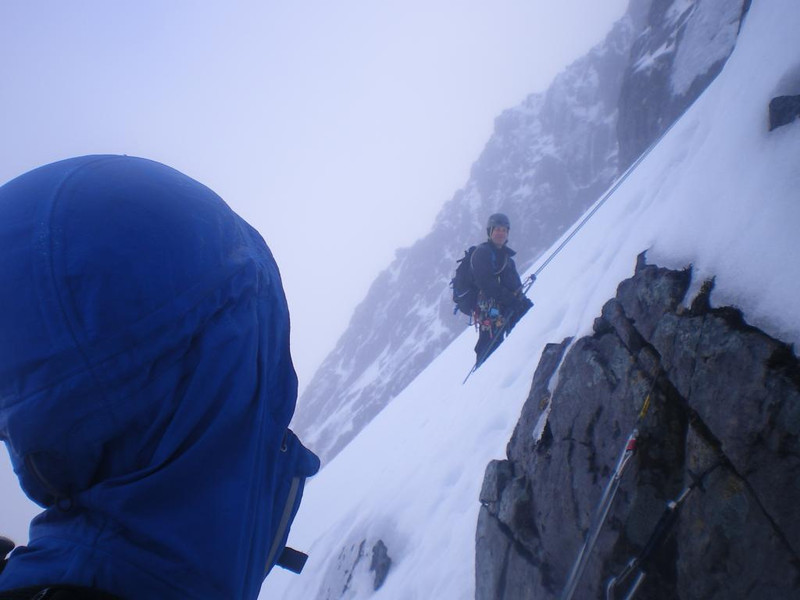 Abseilng of No.3 Gully Buttress.
