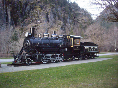 Old Seattle City Light train in Newhalem.