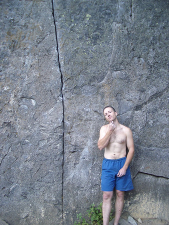 Kyle ponders Angel Crack, 10A, Castle Rock, Leavenworth, WA.