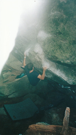 Tim's Sloper Problem (V4/5), Squamish BC, circa 2001.